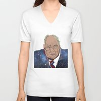 patrick V-neck T-shirts featuring Patrick Moore by ochre7