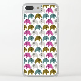 Elephants cute kids design Clear iPhone Case