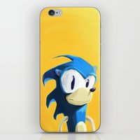 sonic iPhone & iPod Skins featuring Sonic by tonguestubble
