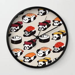 Sushi Panda Wall Clock