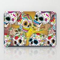 sugar skulls iPad Cases featuring Sugar Skulls by Spooky Dooky