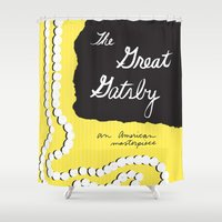 great gatsby Shower Curtains featuring The Great Gatsby - Kate Spade by Katieb1013