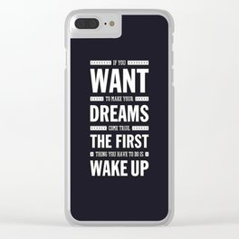 Lab No. 4 If You Want To Make J.M. Power Life Inspirational Quote Clear iPhone Case