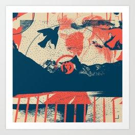 Exploration Fragments Tile 11/12 Art Print