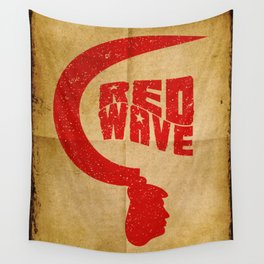 Red Wave. Wall Tapestry