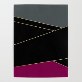 Angelica . Burgundy , gray , black Poster