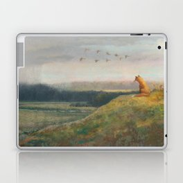 Red Fox Looks Out Over the Valley Laptop & iPad Skin