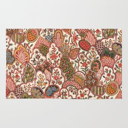 Oberkampf & Cie. Block Printed Textile Pattern, 1792 Rug