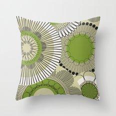 Kiwi flowers Throw Pillow