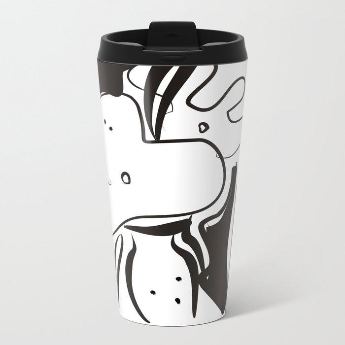 Flower Vase Metal Travel Mug