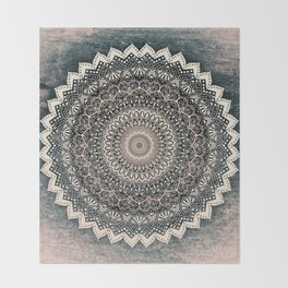 WARM WINTER MANDALA Throw Blanket