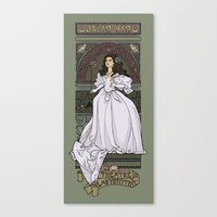 theatre Canvas Prints featuring Theatre de la Labyrinth by Karen Hallion Illustrations