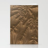 renaissance Stationery Cards featuring Renaissance Brown by Charma Rose