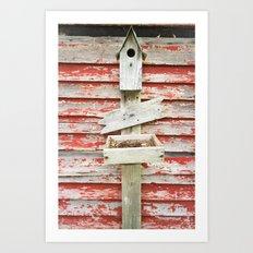 Rustic Birdhouse Art Print