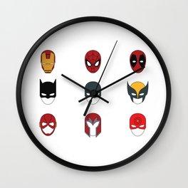 Superhero Masks 3 Wall Clock