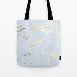 Kintsugi Ceramic Gold on Sky Blue Tote Bag