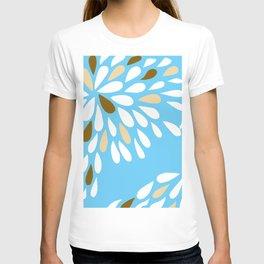 DAHLIA FLOWER RAIN DROPS TEAR DROPS PATTERN T-shirt