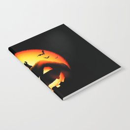 Smile Of Scary Pumpkin Notebook