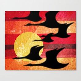 Sunset Migration Canvas Print