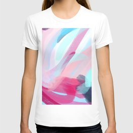 Pastel Abstract Brushstrokes T-shirt