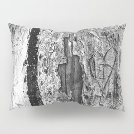 Carvings in Tree Trunk Gnarly Texture Pattern Pillow Sham