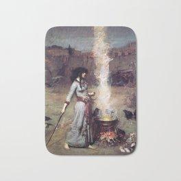 THE MAGIC CIRCLE - JOHN WILLIAM WATERHOUSE Bath Mat