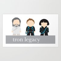 tron Art Prints featuring Tron by mikesmiy