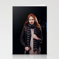 amy pond Stationery Cards featuring Doctor Who's Amy Pond by Sara LD