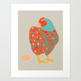 Mother Clucker Art Print
