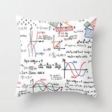 Math Cheat Sheet Throw Pillow