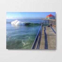 A Perfect Wave * Huntington Beach Pier Metal Print