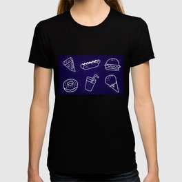Fast Food Party in Blue T-shirt