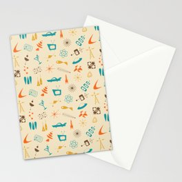 Mid Century Madness - Atomic Age Space Age Retro Pattern Stationery Cards