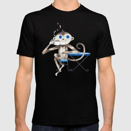 Monkey enjoys coffee smell T-shirt
