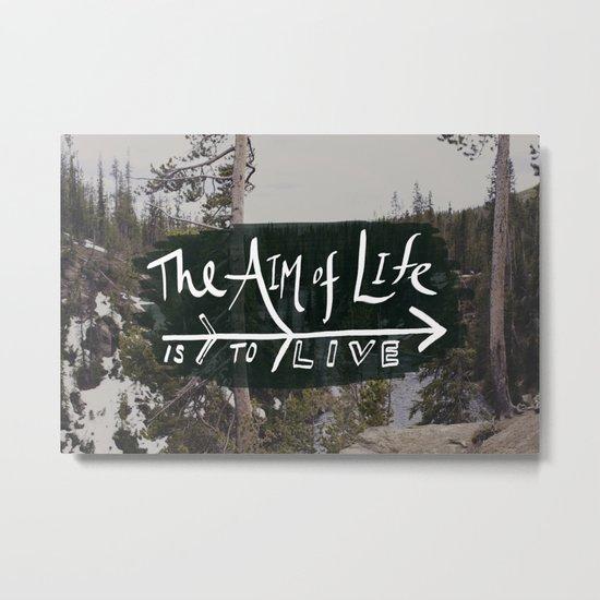 The Aim of Life x Wyoming Metal Print