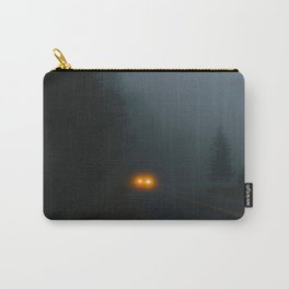 Headlight On A Misty Mountain Road Carry-All Pouch