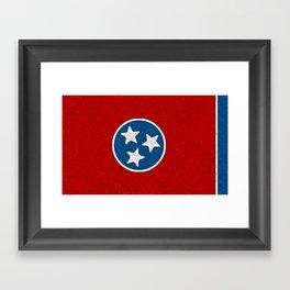 Fancy Flag:  Tennessee Framed Art Print