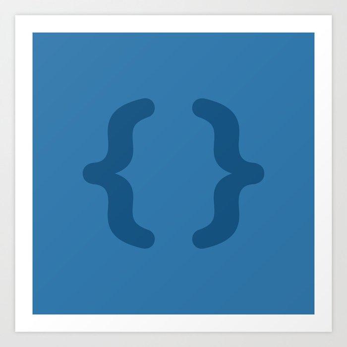 CSS - Code Icons Art Print