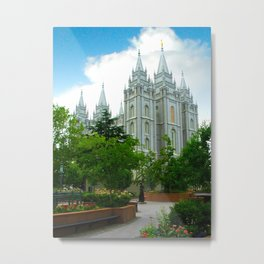 SLC Temple Metal Print