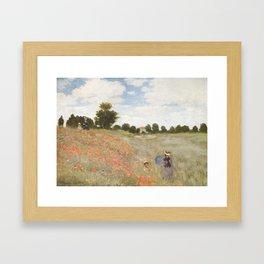 Poppies, Claude Monet, 1873 Framed Art Print