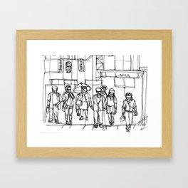 The Crosswalk Framed Art Print