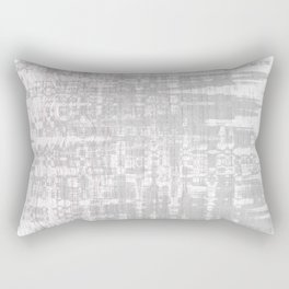 Greyish dirty and wavy look on white pavement Rectangular Pillow