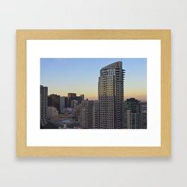 San Diego Dusk Framed Art Print
