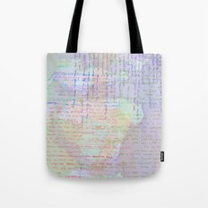 Words and Water Paint Tote Bag