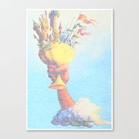 monty python Canvas Prints featuring Monty Python & The Holy Grail. The Script Print! by Robotic Ewe