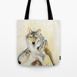 Totem Wolf: Gray wolf (c) 2017 Tote Bag