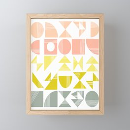 Organic Abstract Shapes in Soft Pastel Colors Framed Mini Art Print