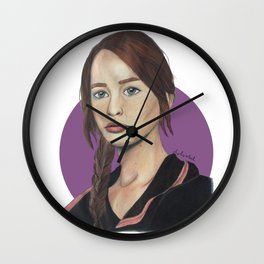 Katniss // Lavender Wall Clock