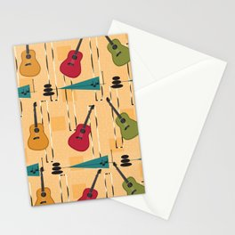 Mid Century Modern Guitar Stationery Cards