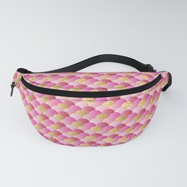 Pink Gold Mermaid Scales Fanny Pack